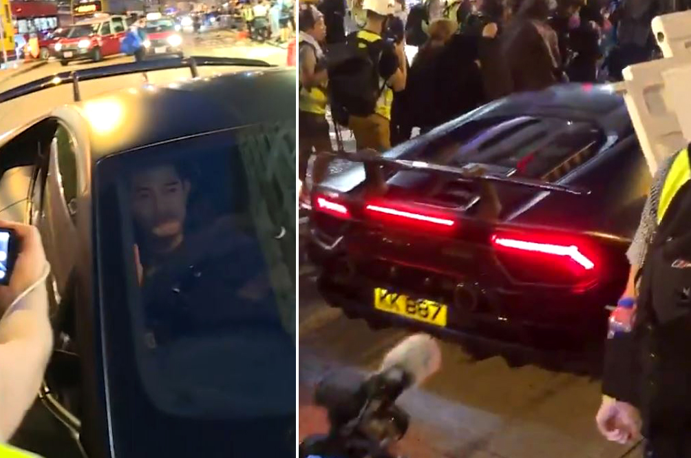 Aaron Kwok (And His Lambo) Gets Stuck In A Protest While Out Buying Baby Diapers