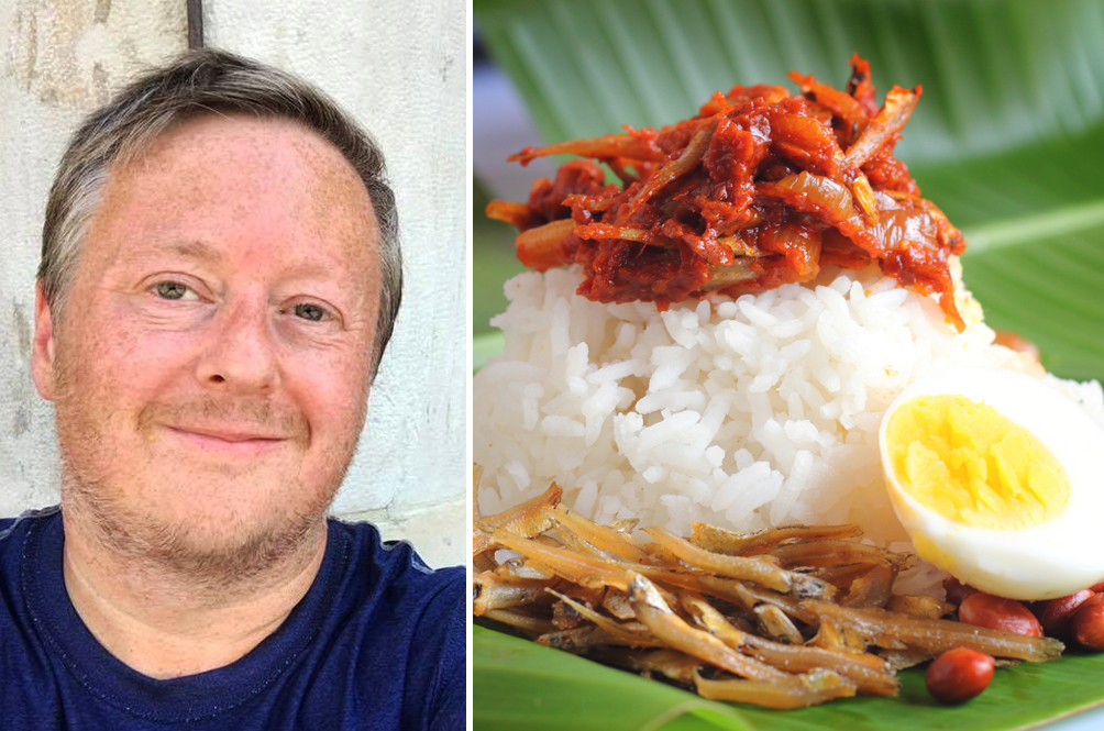 This Mat Salleh Travels Over 9,000km To M'sia Just Because He Was Craving For Nasi Lemak