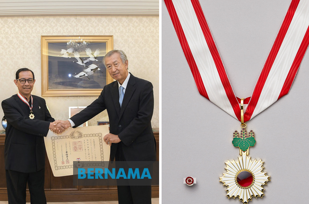 Malaysian Conferred Japan's 'Order Of The Rising Sun, Gold Rays With Neck Ribbon' Award