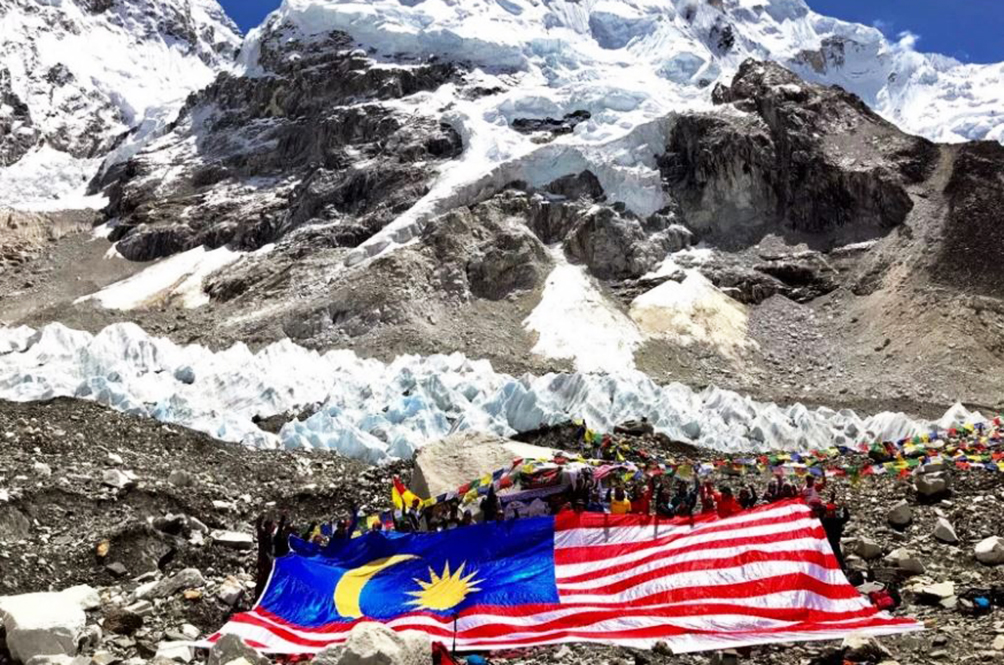 The 'Jalur Gemilang' Is Now Proudly Flying At The Mount Everest Base Camp