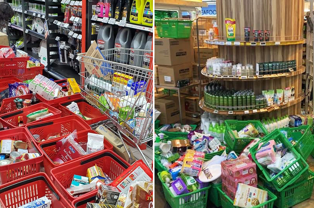 S'porean Shoppers Go On Panic Buying Frenzy, Only To Abandon Goods When Queue Gets Too Long
