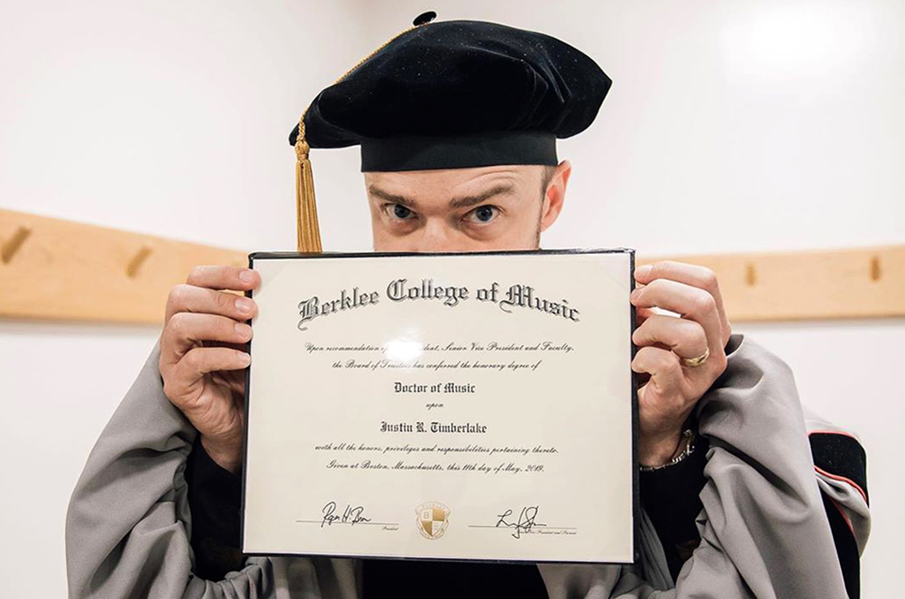 Justin Timberlake Is Now Officially Dr. Justin Timberlake