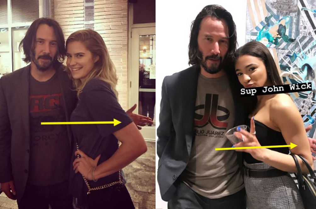 Fans Notice Keanu Reeves' Quirky Trait When Taking Pictures