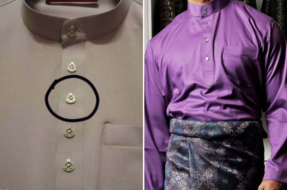 Baju Melayu Buttons With PDRM Logo Cannot Be Sold Online