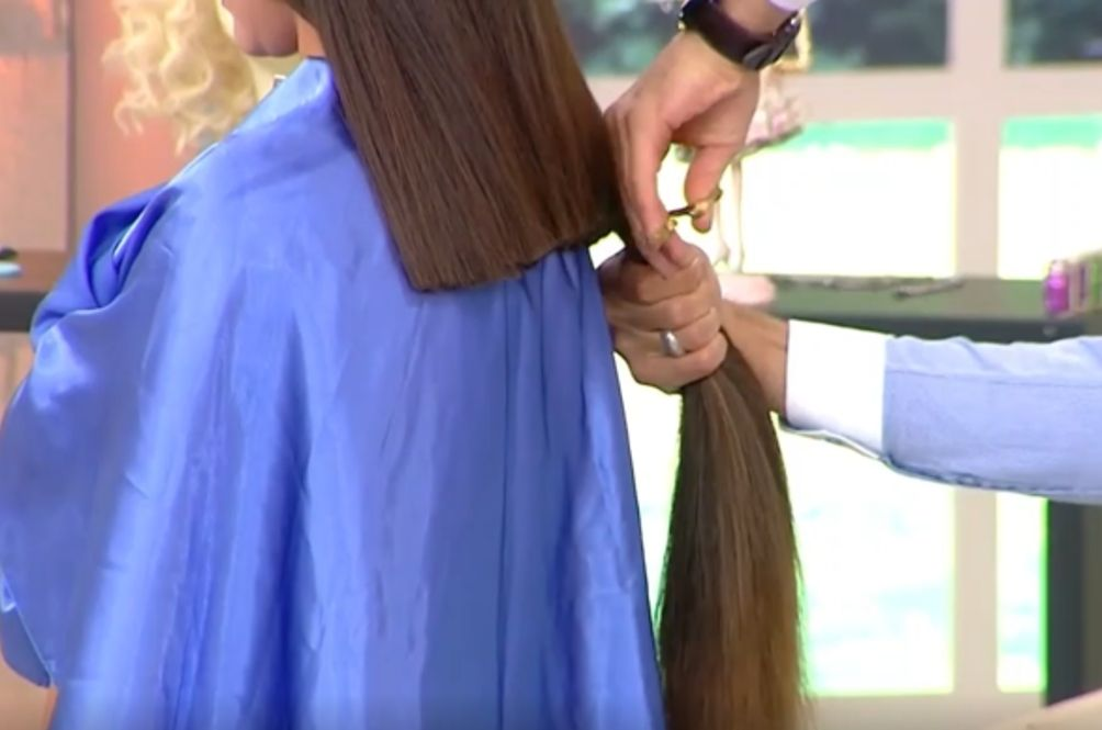 Model Faints After Having 30cm Off Her Hair Chopped Off On Reality Show