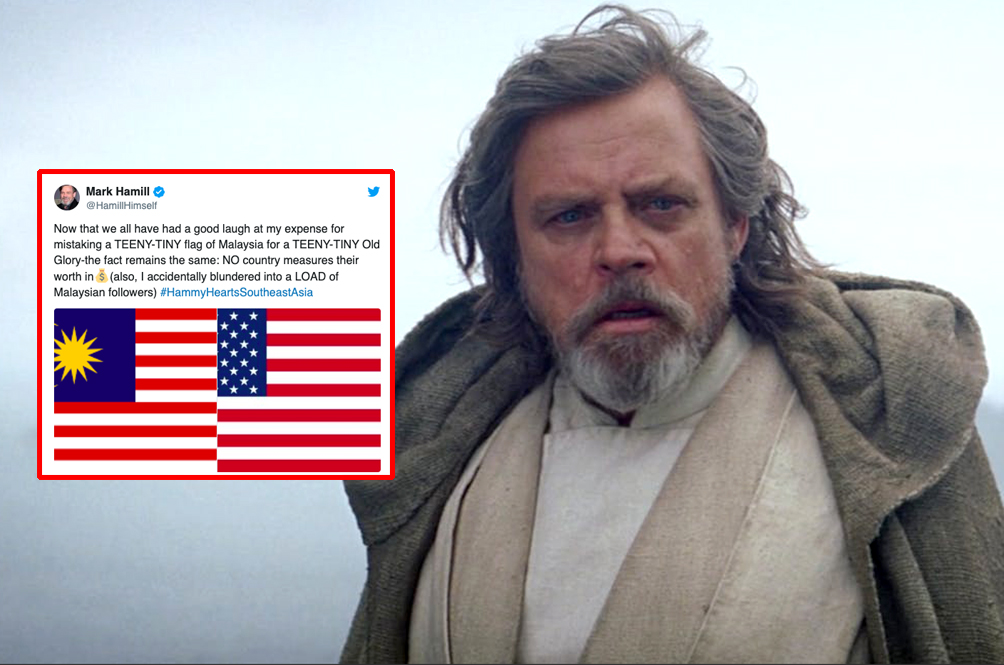 Notice Us, Senpai: Mark Hamill Discovers Hoards Of Malaysian Fans After Twitter Mistake