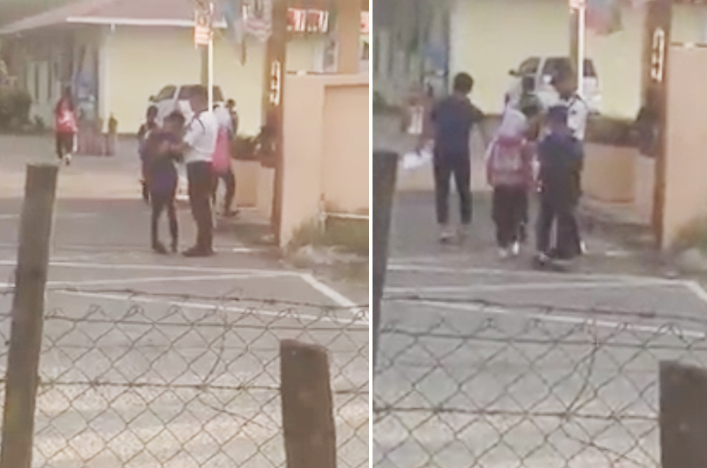 Students From This Local Primary School Greet Their Security Guard Every Morning
