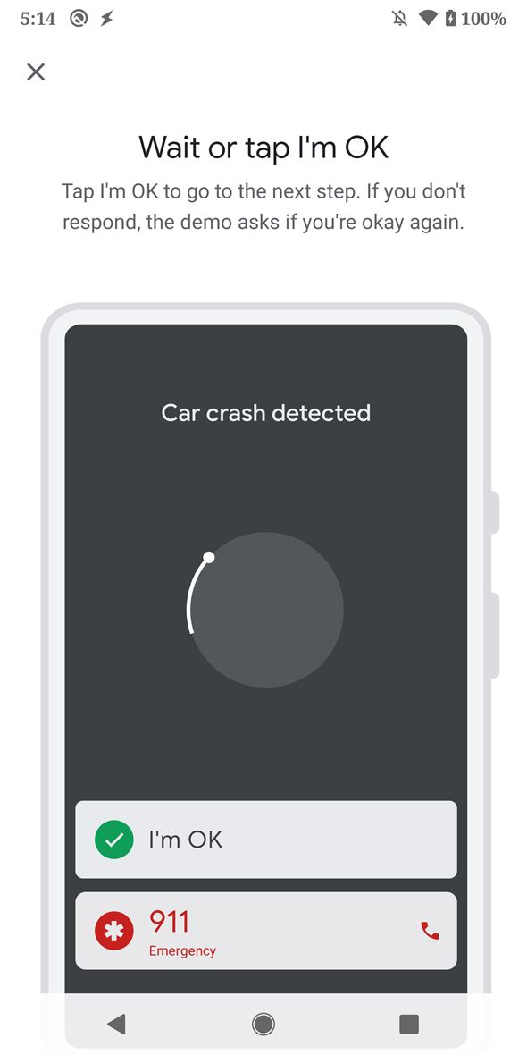 Smart enough to detect if you're in an accident.