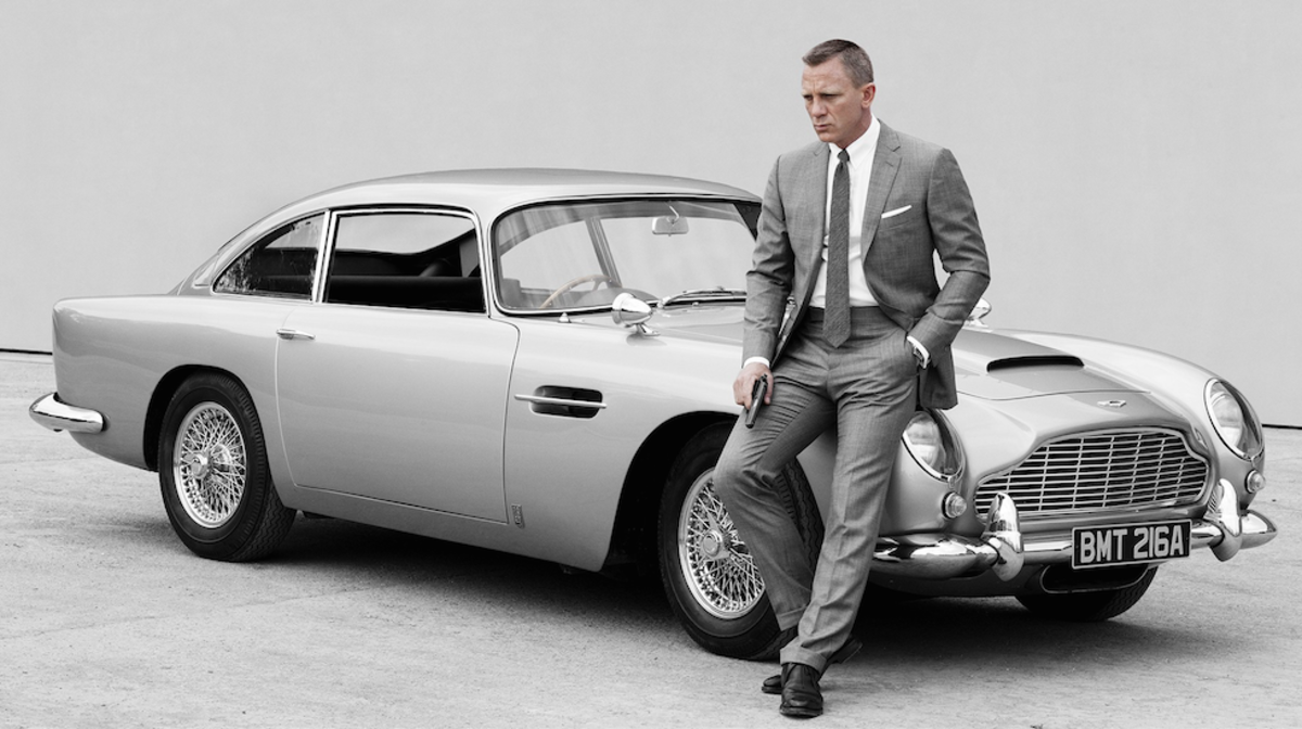 Mr Bond and his favourite car.