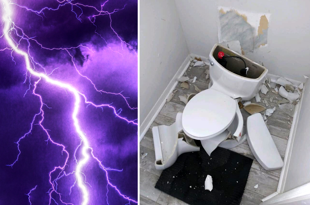 Couple's Toilet Explodes After Lightning Ignited Fart Gasses in Septic Tank