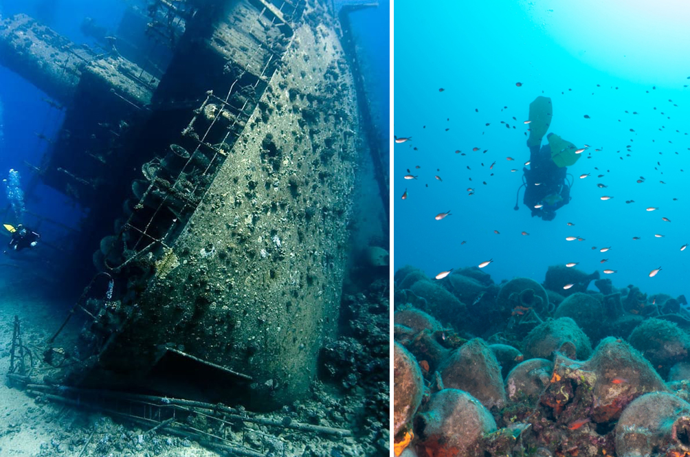 This Amazing Underwater Museum In Greece Allows You To Swim Through A Historical Shipwreck