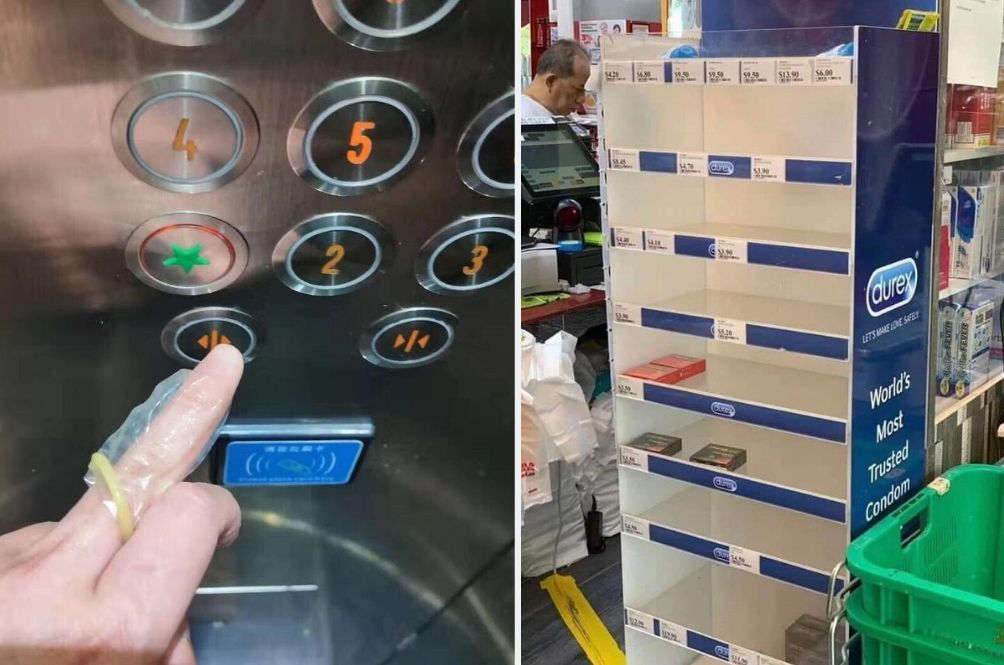 Singaporeans Find Creative Use For Condoms During Corvid-19 Outbreak
