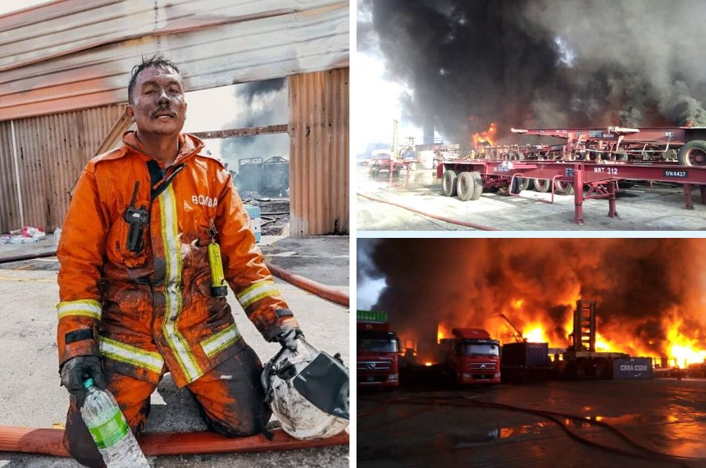 Thank You Abang Bomba: Picture Of Exhausted Johor Fireman Goes Viral