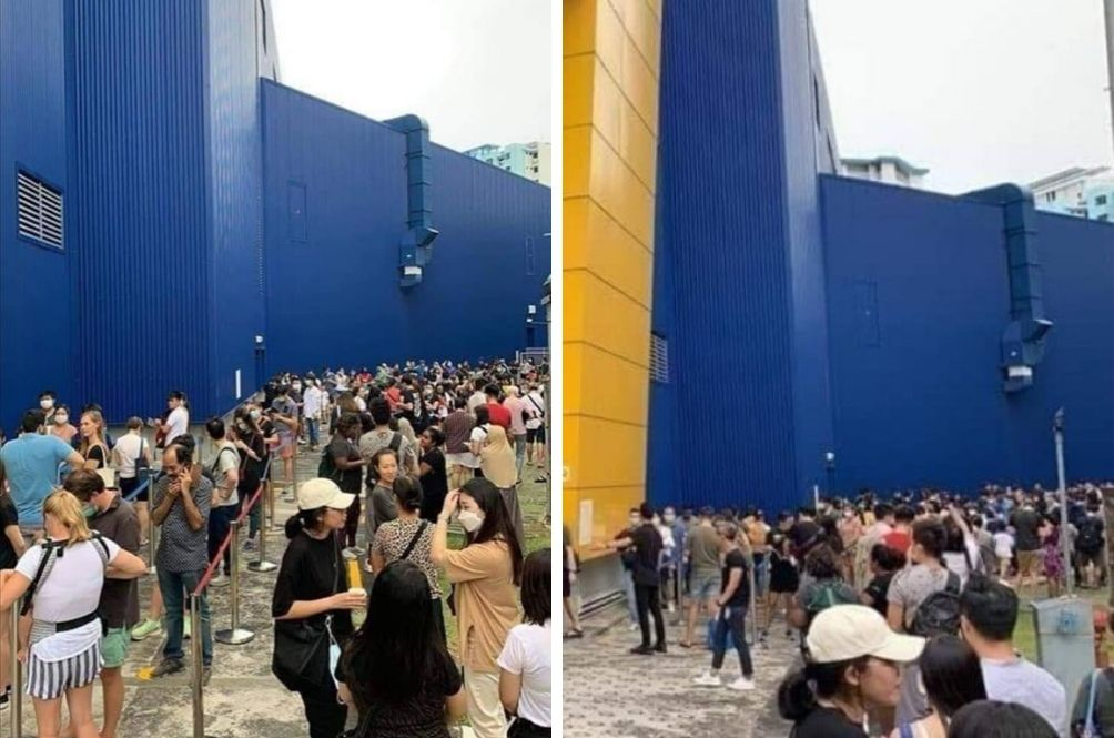 Singaporeans Flock To Ikea After Their Government Announces Partial Lockdown Due To COVID-19