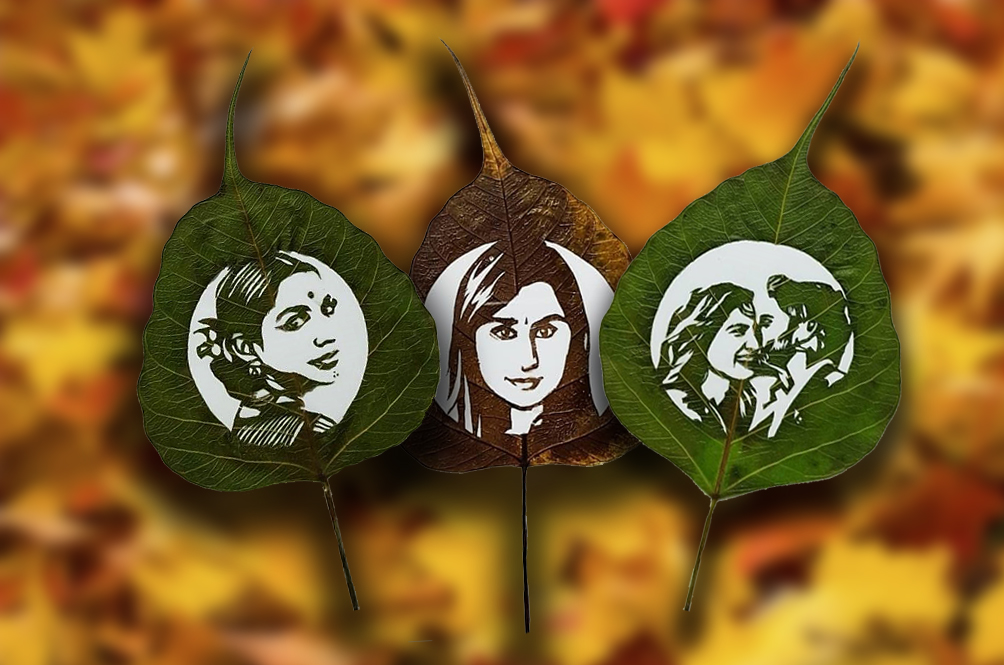 This Valentine's Day, Surprise Your Loved Ones With Their Portraits...Carved On Leaves!