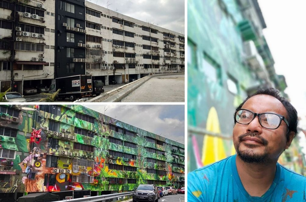 Artist Transforms Dilapidated Six Storey Building Into A Work Of Art