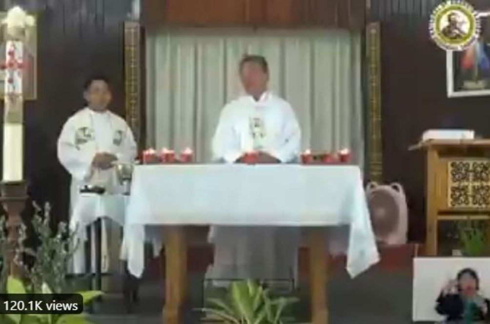 Video Of Priest And Church Members Singing