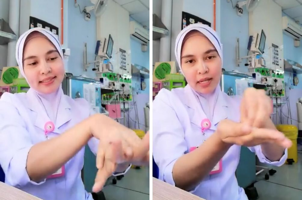 Nurse Hidayah Teaches Us The Correct Way To Use Hand Santisers