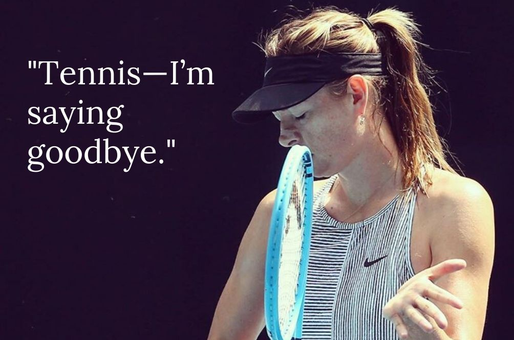 Maria Sharapova Retires At Age 32 But Says There's More To Come