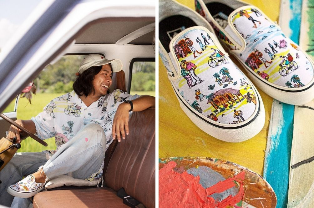 Putting Malaysia On The Map: Kuala Pilah Artist Creates Head-To-Toe Collection With Vans