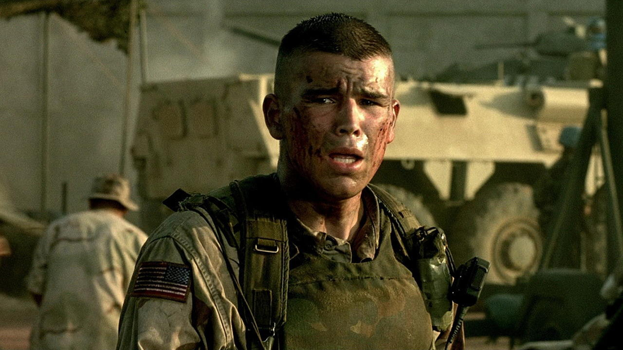 A still from the movie 'Black Hawk Down'