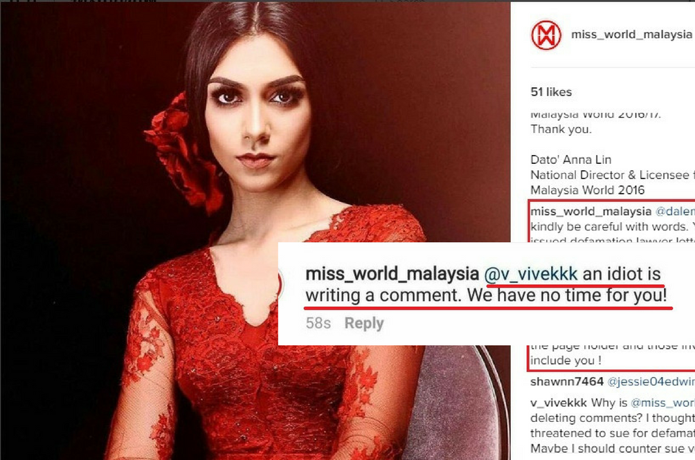 Miss Malaysia World Tatiana Kumar Stripped of her Title but the Drama Doesn't Stop There