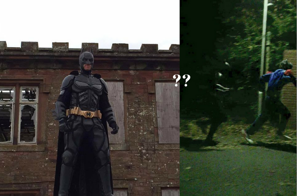 Creepy Clowns Meet Actual Batman in UK. We've Officially Lost Control of Humans