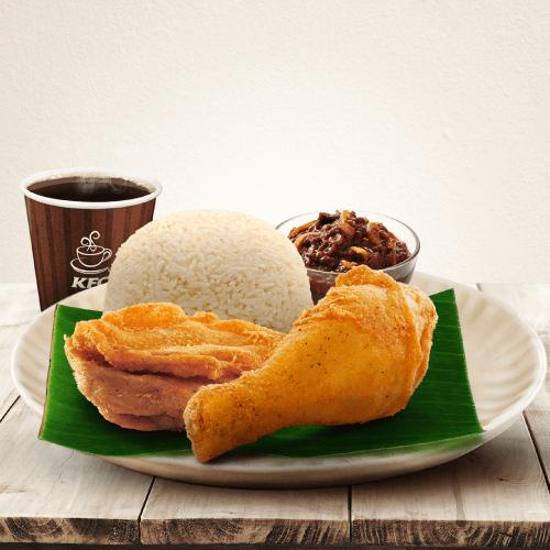 The KFC two-piece breakfast set.