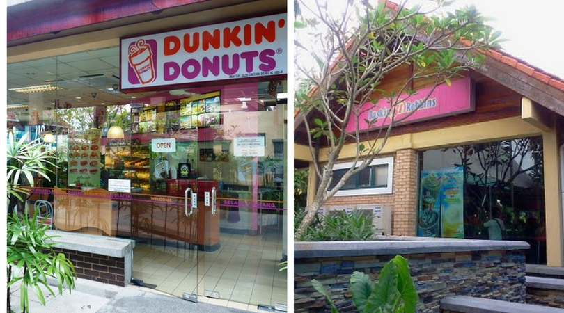 Dunkin' Donuts and Baskin Robbins at the Tapah R&R