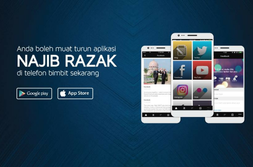 There Is an Official Najib Razak App on the Apple Store and Google Play Store