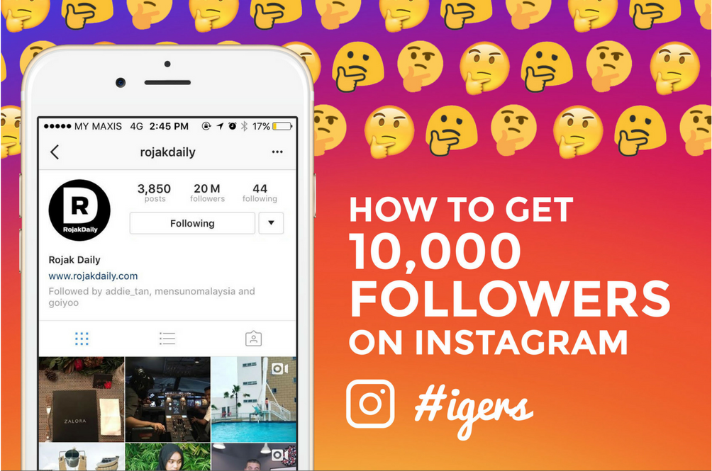 How Did These Malaysian Instagrammers Gain More Than 10,000 Followers?