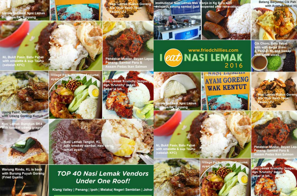 Eat 40 of the Best Nasi Lemak in Malaysia in One Location, 5th November