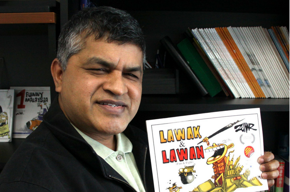 Malaysian Cartoonist Zunar Details the 13 Times He's Been Harassed by Police Since 2009