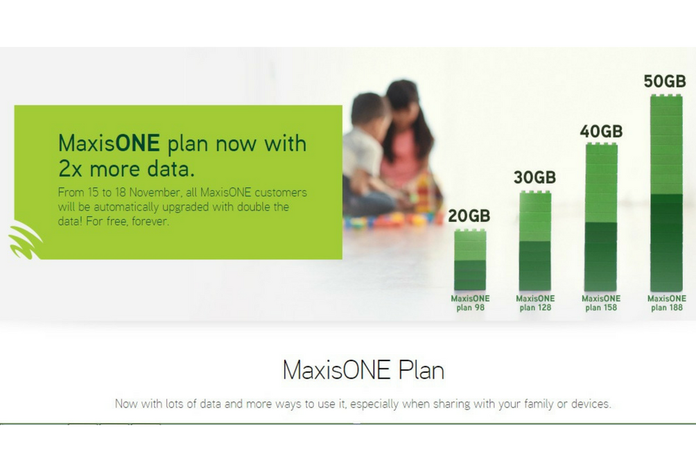 All MaxisOne Plans Get an Upgrade  You Can Now Get 20GB Data