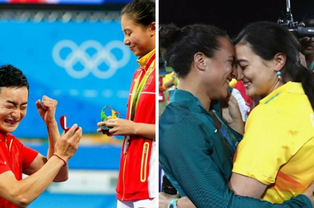 Love Wins: Twin Proposals at Rio Olympics