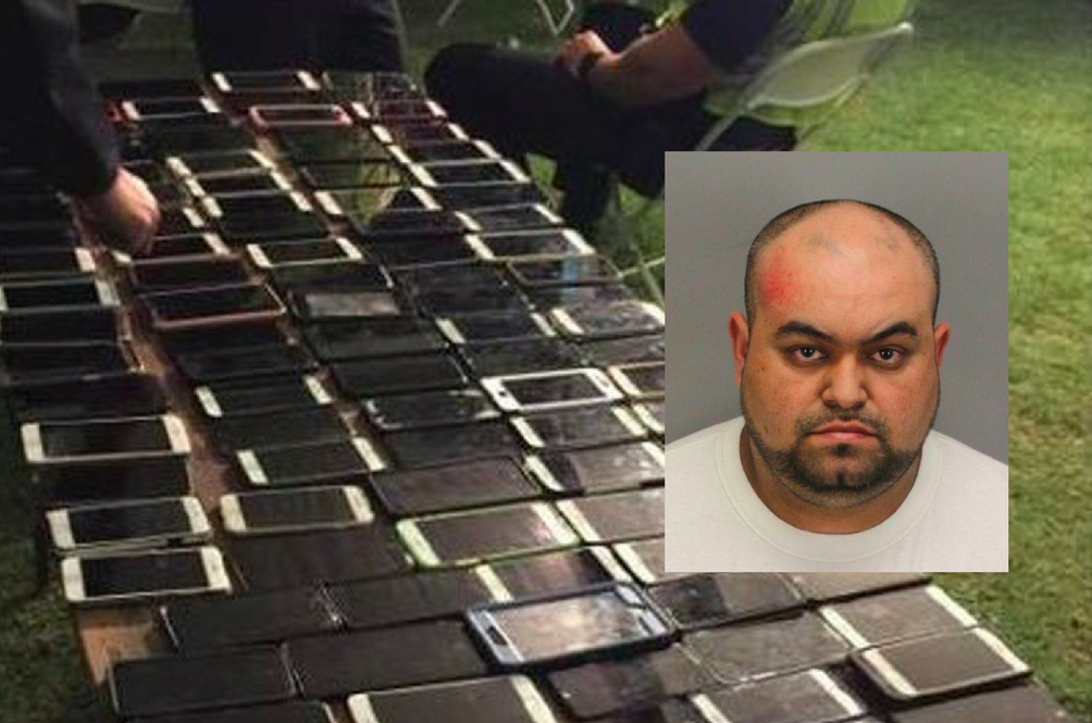 Courageous Thief Stuffs 100 iPhones Into His Backpack At Coachella