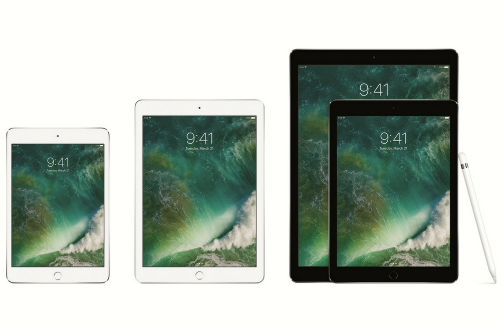 The Apple iPad family photo. They grow up so fast.