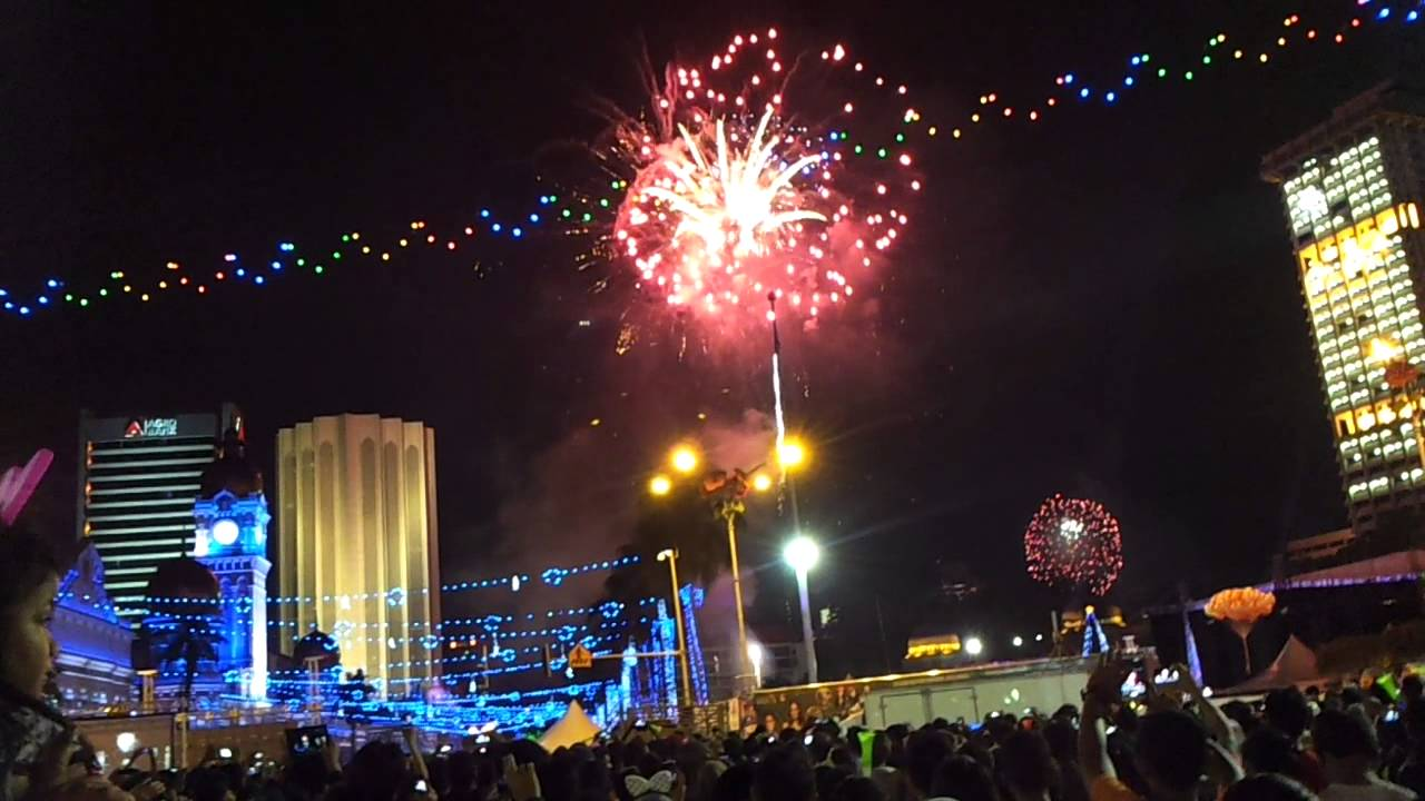 Welcome the New Year with the vibrant crowds at Dataran Merdeka.