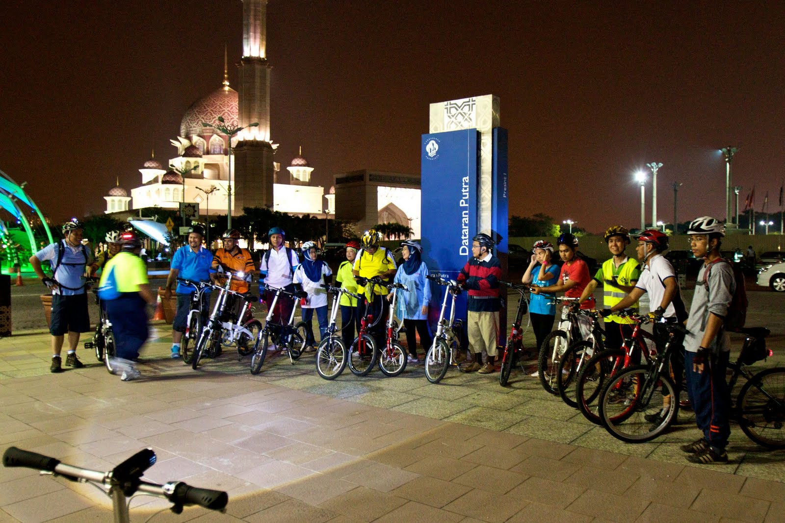 Putrajaya is a popular destination for night cyclers so you won't feel alone on New Year's Eve.