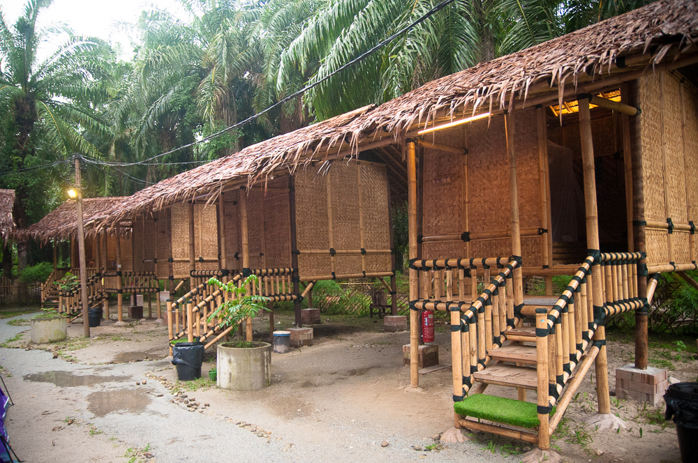 Cabins are built based on Orang Asli architecture and style.