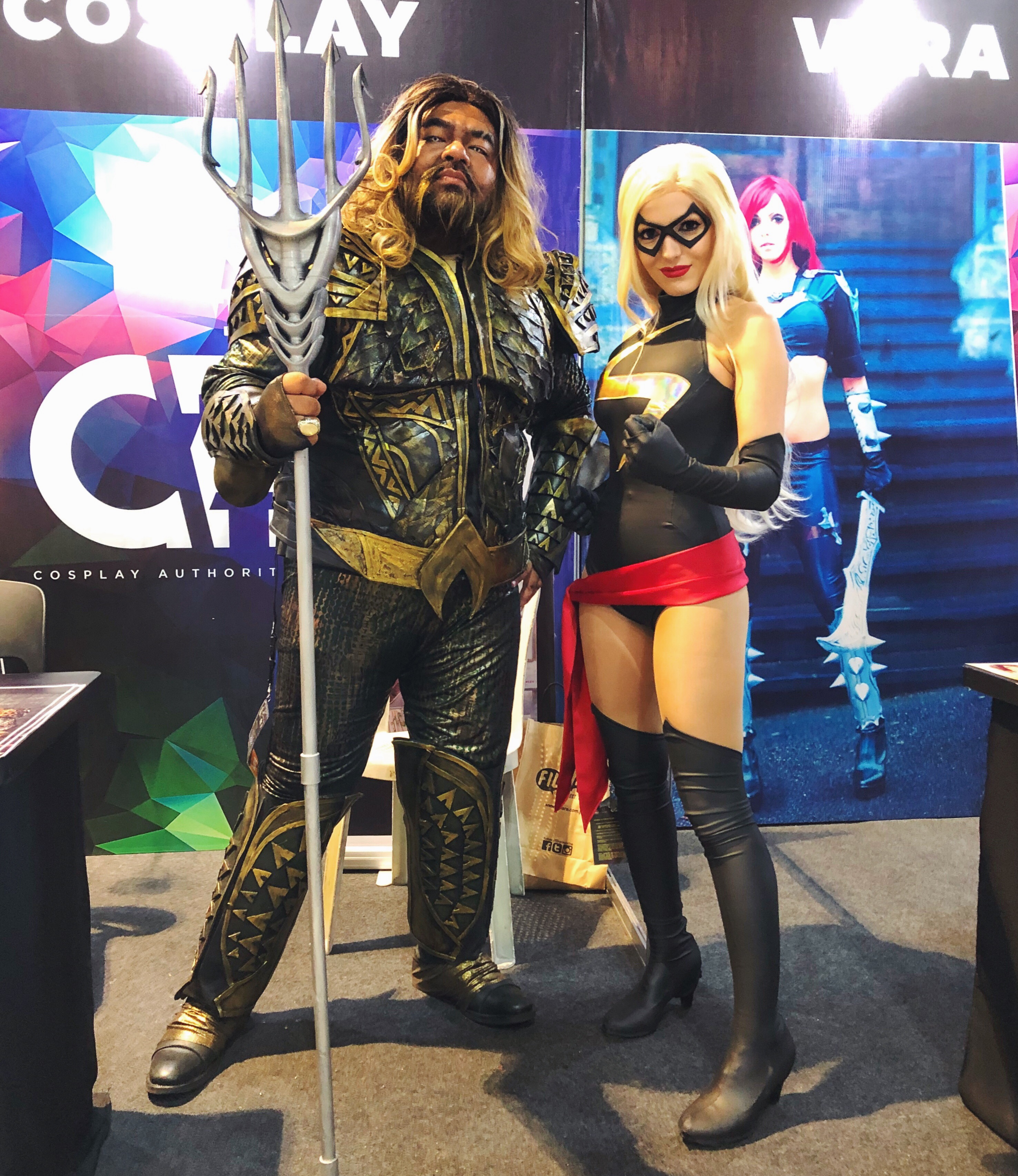 Aquaman and Ms. Marvel