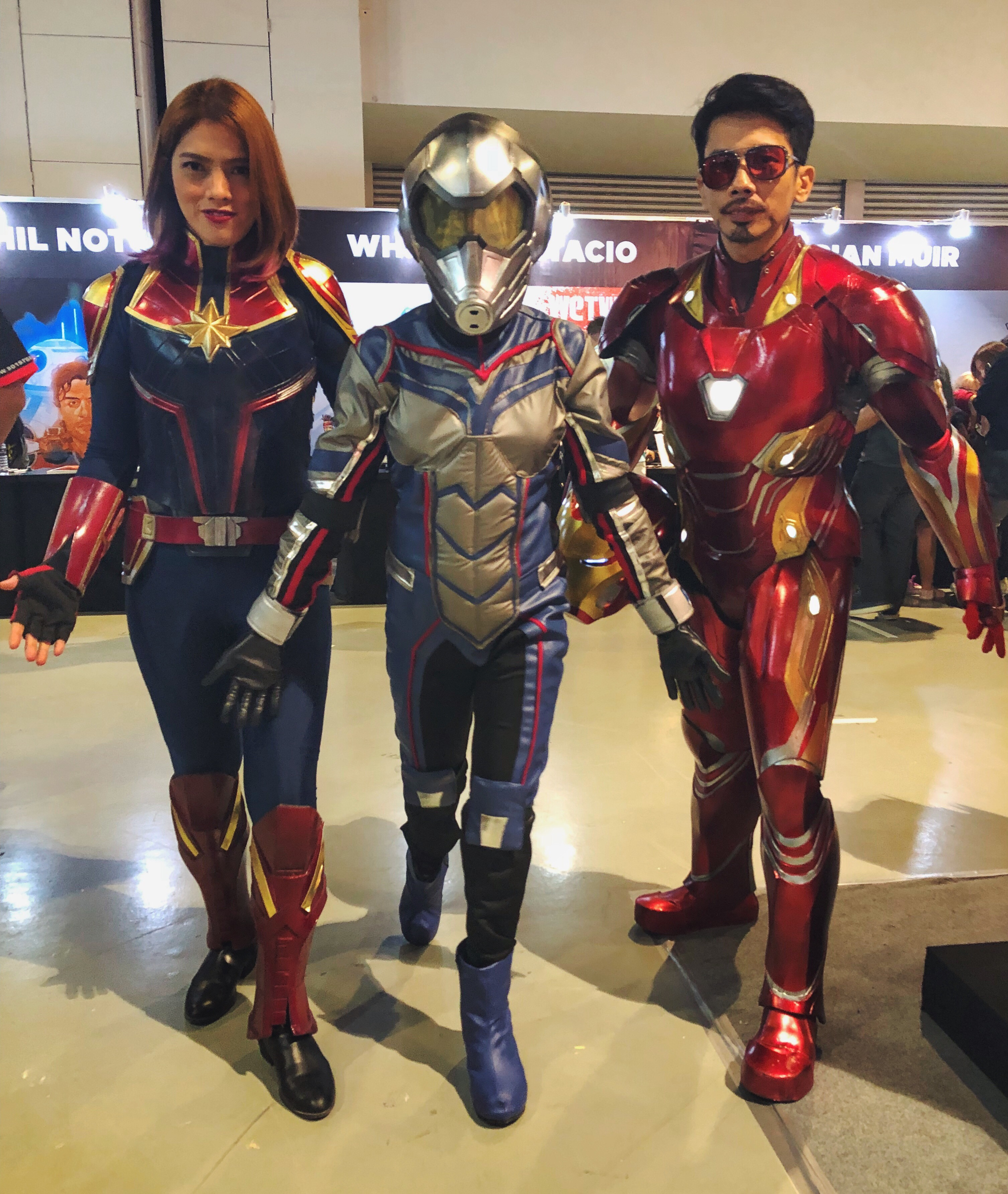 Captain Marvel, Ant-Man and Tony Stark