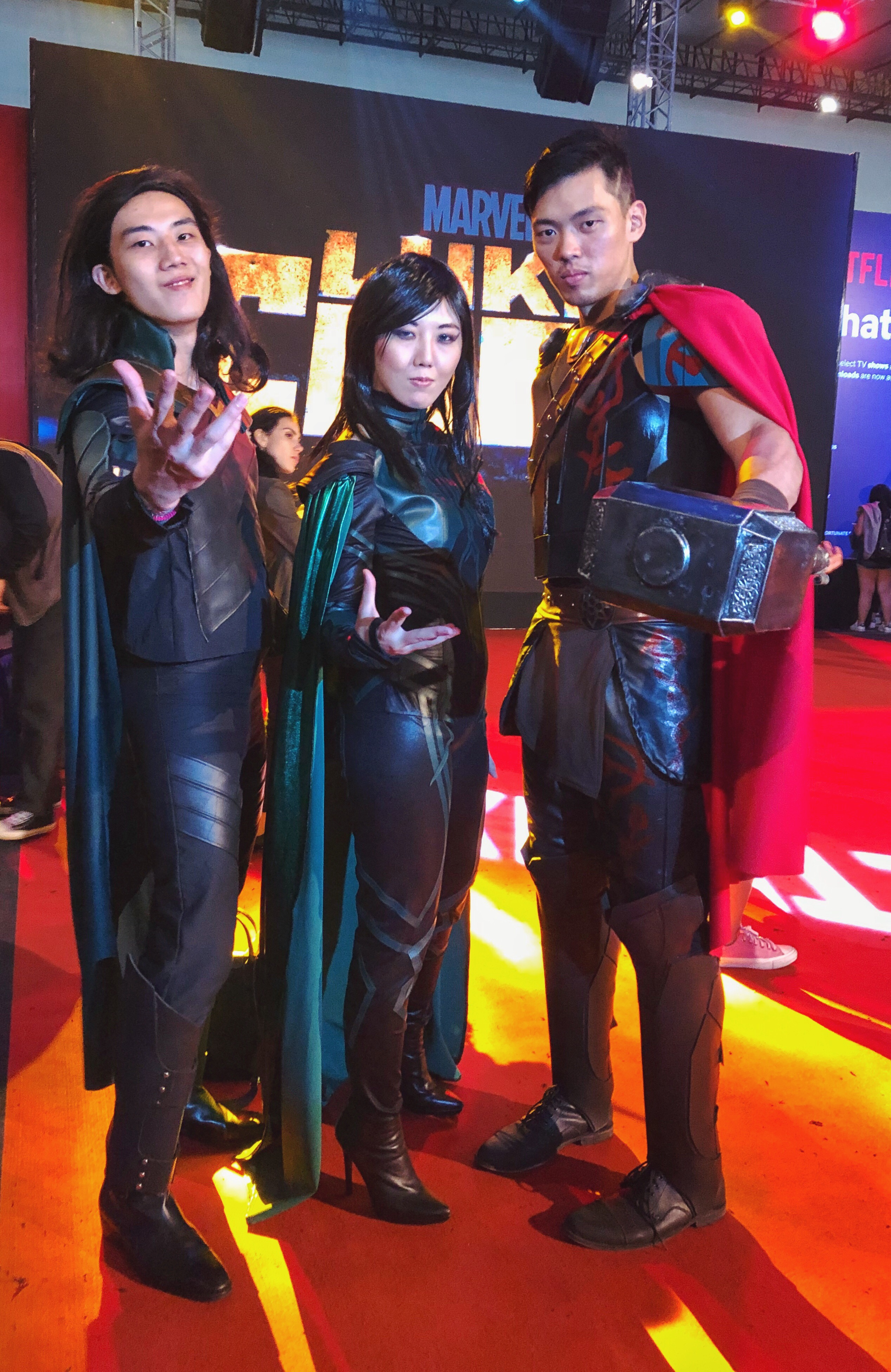 Loki, Hela and Thor