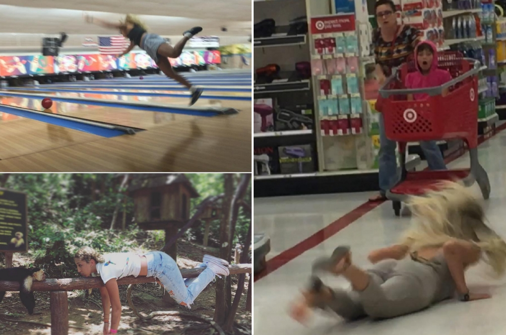 This Girl has Become an Instagram Sensation by… Falling Down on Purpose