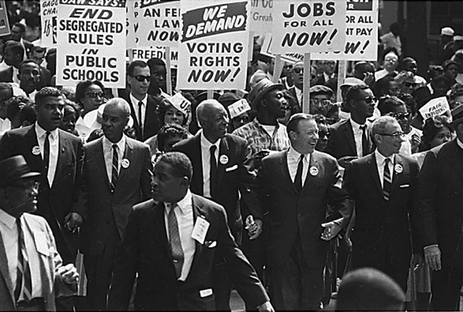 The rise of the Civil Rights Movement.