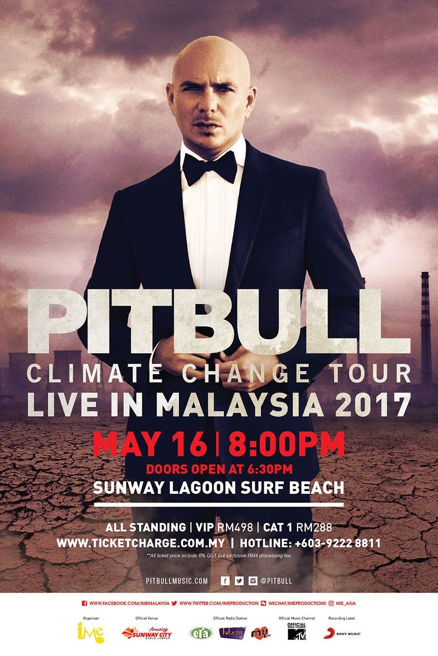 CONTEST] Win Passes To Catch Pitbull Live In Malaysia