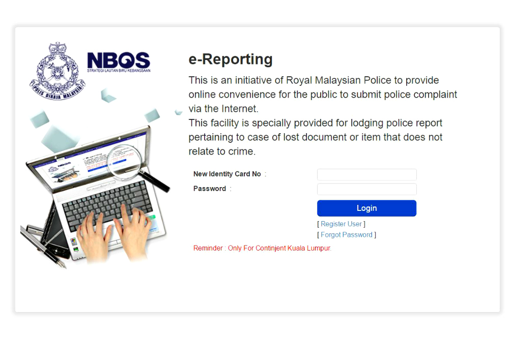 KLites, You Can Now Report Missing IC Or Passports Via The Internet