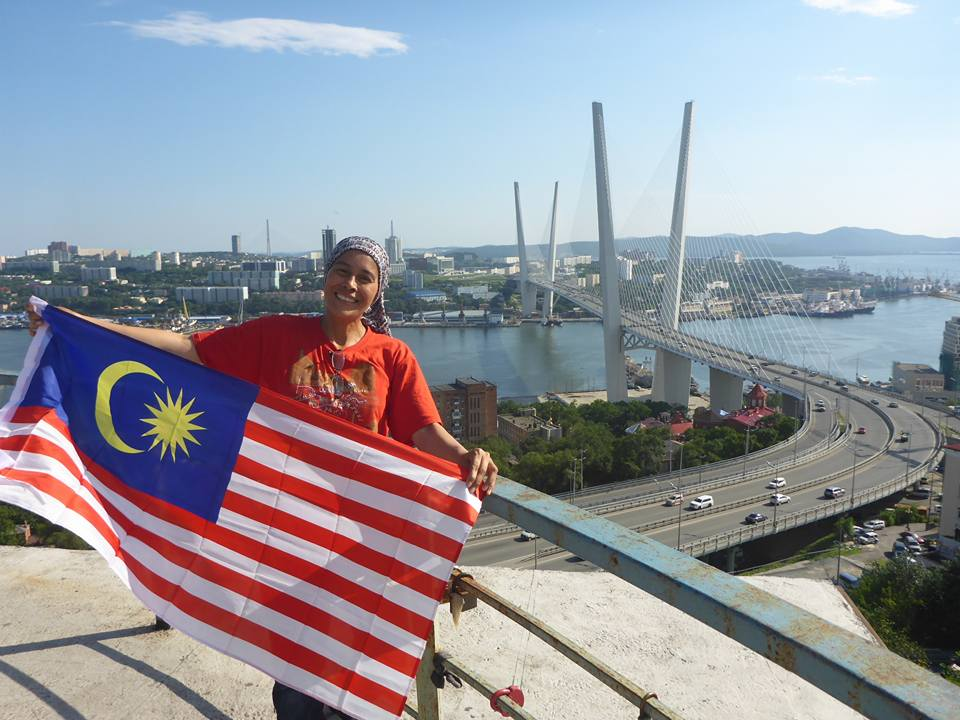 A proud Malaysian in Vladivostok, Russia.