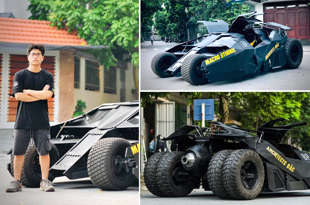 College Student Builds His Very Own Batmobile After Watching 'The Dark Knight'