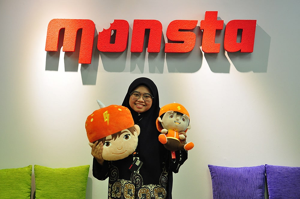 Nurfathiah – an important figure in bringing BoBoiBoy's character to life!